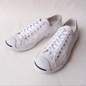 CONVERSE Jack Purcell RARE White Leather Sneaker